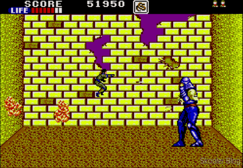The game screen: Shinobi - Master System