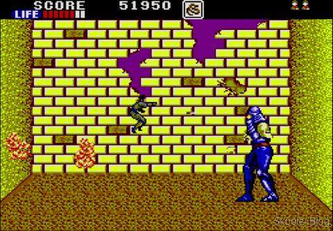 The game screen: Shinobi - Master System