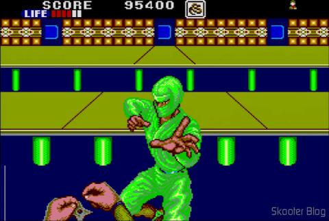 Tela do jogo: Shinobi - Master System