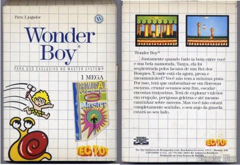 Capa da Tec Toy para o Wonder Boy