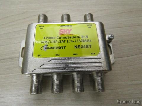 Chave Comutadora 3x4 Nanosat NS34ST