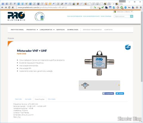 Especificações do Proeletronic PQMB-2300B no site da Proeletronic