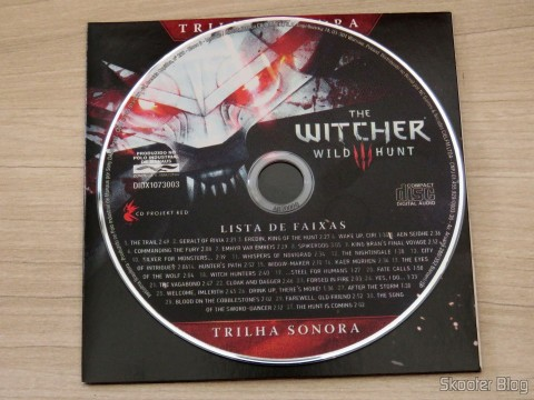 CD with the soundtrack for The Witcher 3: Wild Hunt (Playstation 4)
