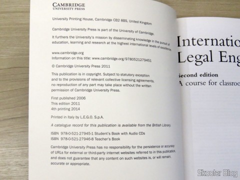 Book International Legal English Student's Book with Audio Cd (3): A Course for Classroom or Self-study Use
