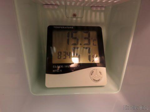 Temperature test with TV007 Retro Portable Mini Fridge