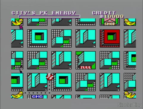 O mapa de Ghostbusters - Master System