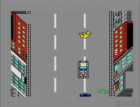Dirigindo nas ruas de Ghostbusters - Master System