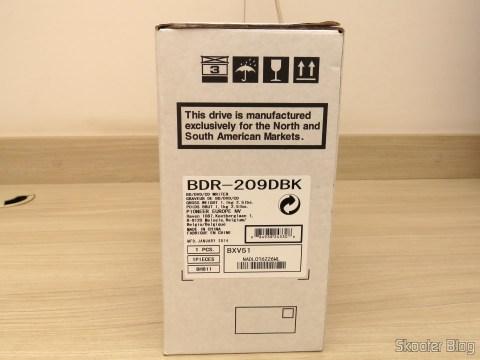 Gravador Blu-ray Pionner BDR 209-DBK, em sua embalagem
