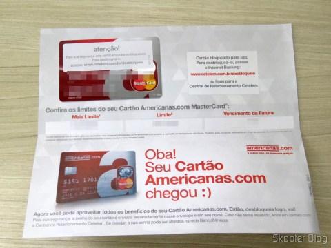 A Chegada do Cartão de Crédito Mastercard da Americanas