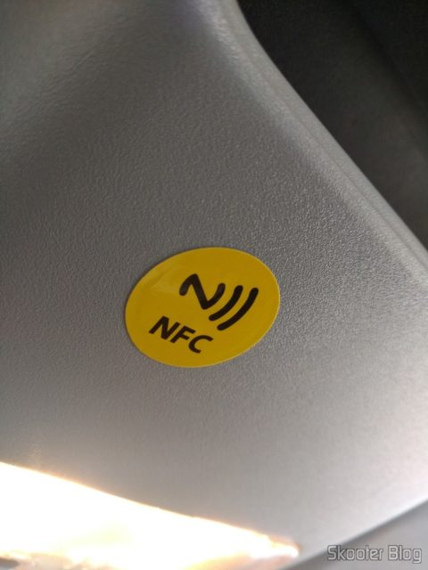 NFC label in the car
