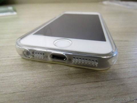 Capa e Película de vidro aplicada no iPhone 5S