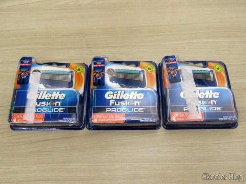 3 Gillette Proglide Regular loads with 4 units