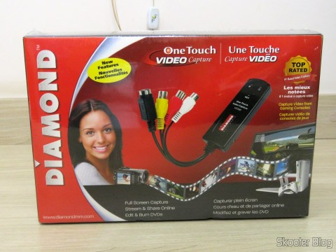 Diamond VC500 USB 2.0 One Touch VHS to DVD Video Capture Device, em sua embalagem