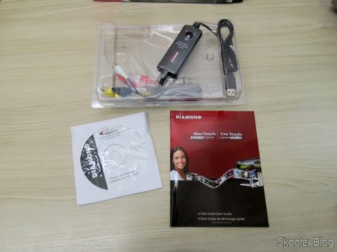 Diamond VC500 USB 2.0 One Touch VHS to DVD Video Capture Device e acessórios