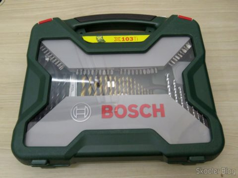 Kit 103 Peças c/ Brocas, Chaves, Alicates, Soquetes, Serras Copo - Xline Bosch