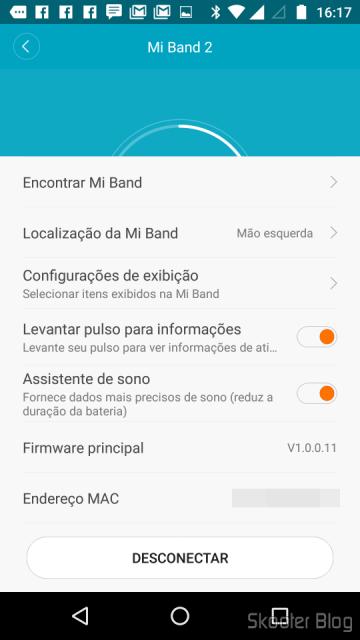 E Fit: Mi Band settings
