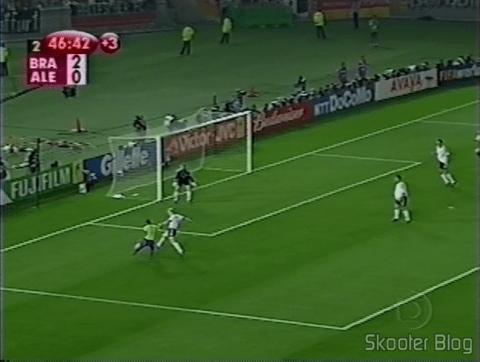 Seleção Brasileira vencendo a Alemanha e ganhando o penta na Copa de 2002