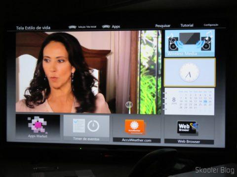 "Tela inicial da Smart TV Panasonic Viera 40"" - TC-40DS600B"