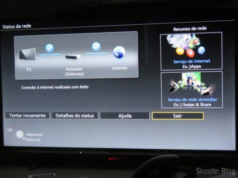 """Conexão de rede na Smart TV Panasonic Viera 40"""" - TC-40DS600B"""