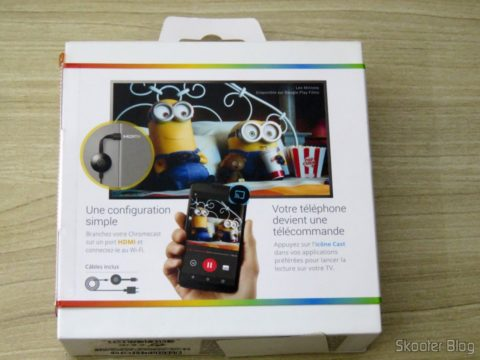 Chromecast 2, on its packaging