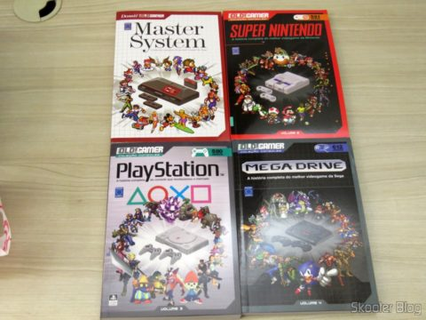 The 4 first volumes of the OLD File!Gamer: Master System, Super Nintendo, PlayStation and Sega Mega Drive