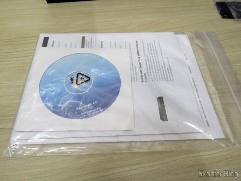 Manuais e CD do Switch Easy Smart Gigabit de 16 Doors TP-Link TL-SG1016DE