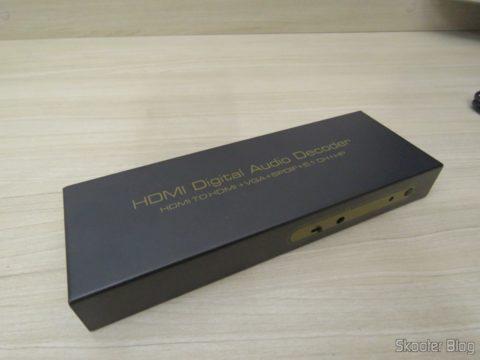 Decodificador e Extrator de Áudio HDMI para HDMI, SPDIF e Analógico 5.1