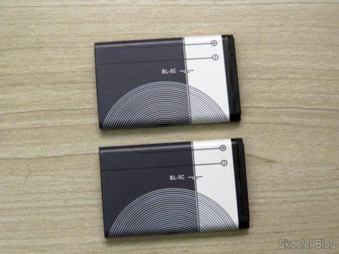 Two Nokia BL-5 c Batteries