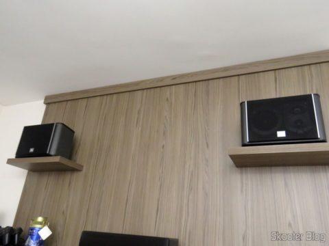 Caixas Acústicas JBL ES10 como frontais superior