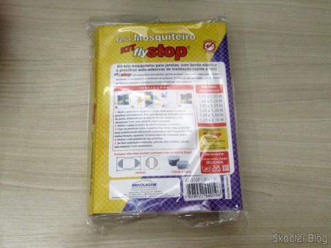 Tela Mosquiteiro Kit Fly Stop, em sua embalagem