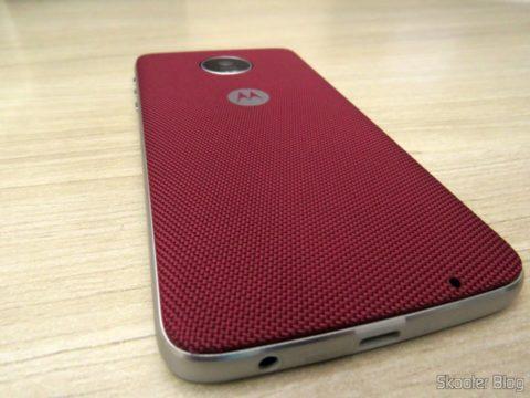 Snap Style Shell Nylon Rouge acoplada ao Moto X Play