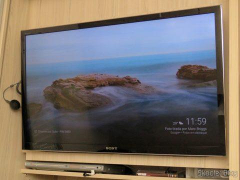 Google Chromecast 2 instalado e funcionando