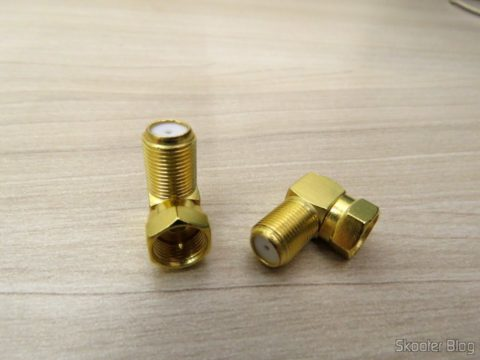 2 Adaptadores em L para Conector de Antena Tipo F