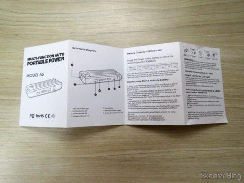 Manual de Instruções do Mini Powerbank com Jump Starter para Carro e Moto