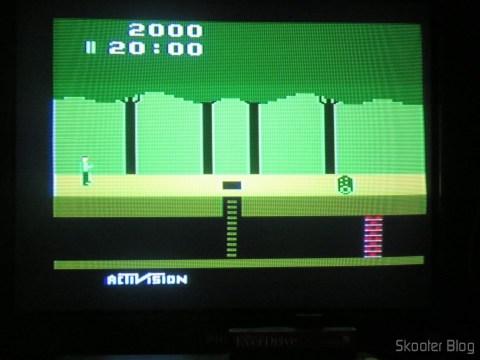 Cores do Pitfall no meu Atari VCS americano, com mod de S-Video e Vídeo Composto, após o ajuste de matiz.