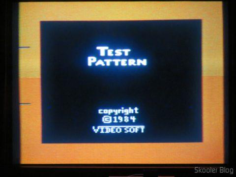 Color Bar Generator no Atari 2600 da Polyvox c/ fonte externa, após aquecido