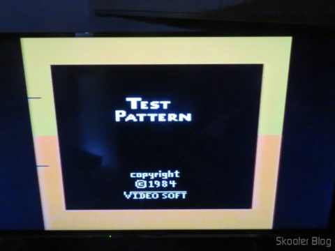 Color Bar Generator on the Atari 2600 the Polivoks c/external source, after heated, in LCD TV