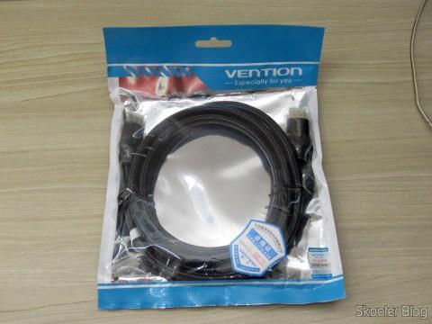 3º Cabo HDMI 2.0 4K 3D 60Hz Vention de 2 metros, em sua embalagem