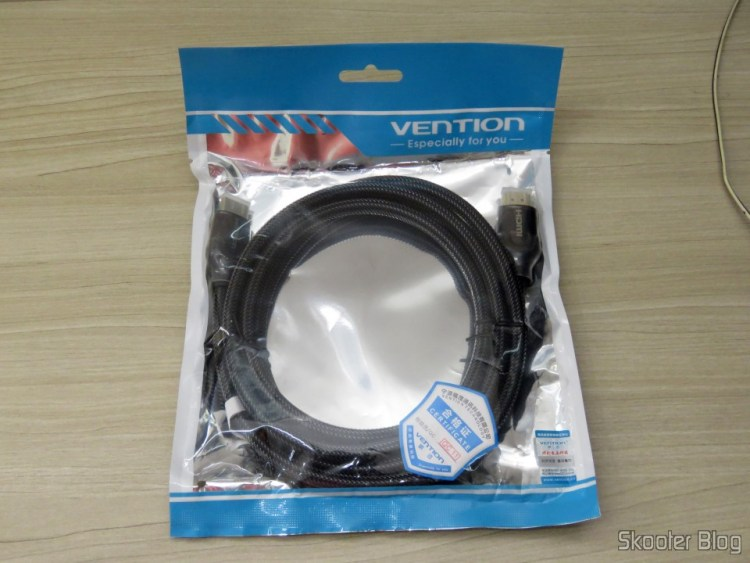 3th HDMI cable 2.0 4K-3D 60 Hz Vention of 2 meters, on its packaging