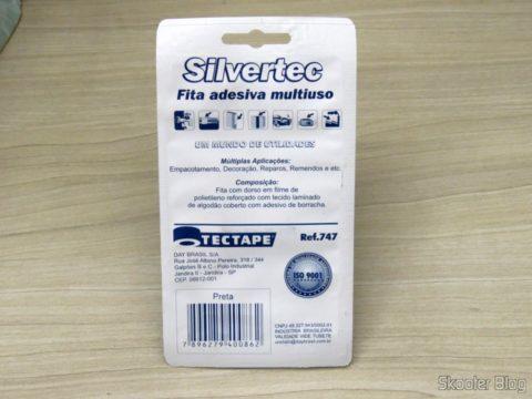 Multipurpose Tape Black Silvertec Tectape, on its packaging
