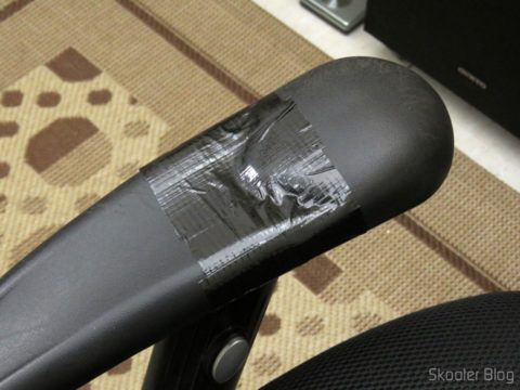 Repair done with Multipurpose adhesive tape Tectape Black Silvertec