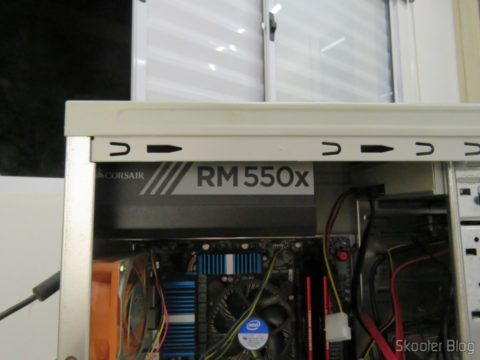 Fully Modular power supply S Series ™ RM550X, installed
