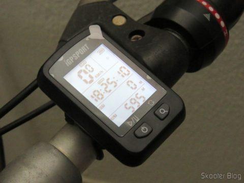 iGPSPORT iGS20E installed on the bike