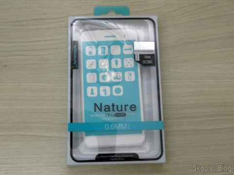 "TPU soft cover for ASUS Zenfone 3 5.2 ZE520KL"" Nillkin Nature Series Transparent, on its packaging"
