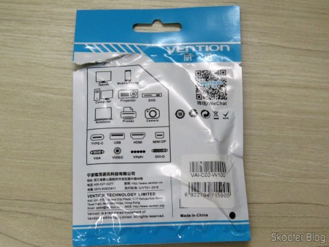 USB cable and load Data Vention for iPhone, on its packaging