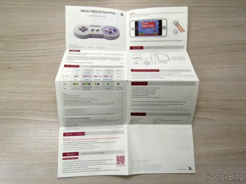 Manual de Instruções do 8bitdo SNES30 GamePad