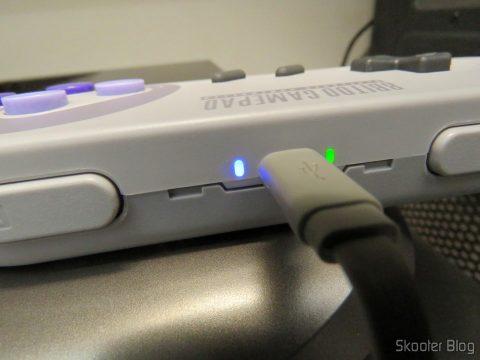8bitdo SNES30 GamePad, em funcionamento