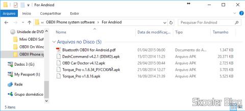 Mini CD com softwares que acompanha o Mini ELM327 V2.1 OBD2 Bluetooth
