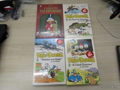 "The Saga of Uncle Scrooge, Pato Donald ""A Cidade Fantasma"", ""Perdidos nos Andes"", e ""Em Busca do Unicórnio"""