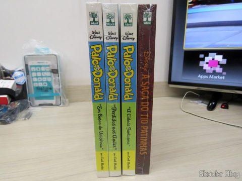 """A Saga do Tio Patinhas, Pato Donald """"A Cidade Fantasma"""", """"Perdidos nos Andes"""", e """"Em Busca do Unicórnio"""""""
